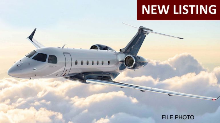 2017 Embraer Legacy 500 – For Sale in an Exclusive Partnership with Embraer